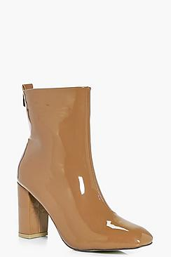 Eloise Patent Square Toe Boot