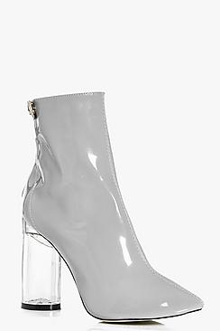 Victoria Clear Patent Shoe Boot