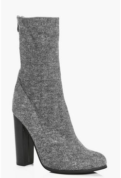 Abbie Jersey Sock Boot