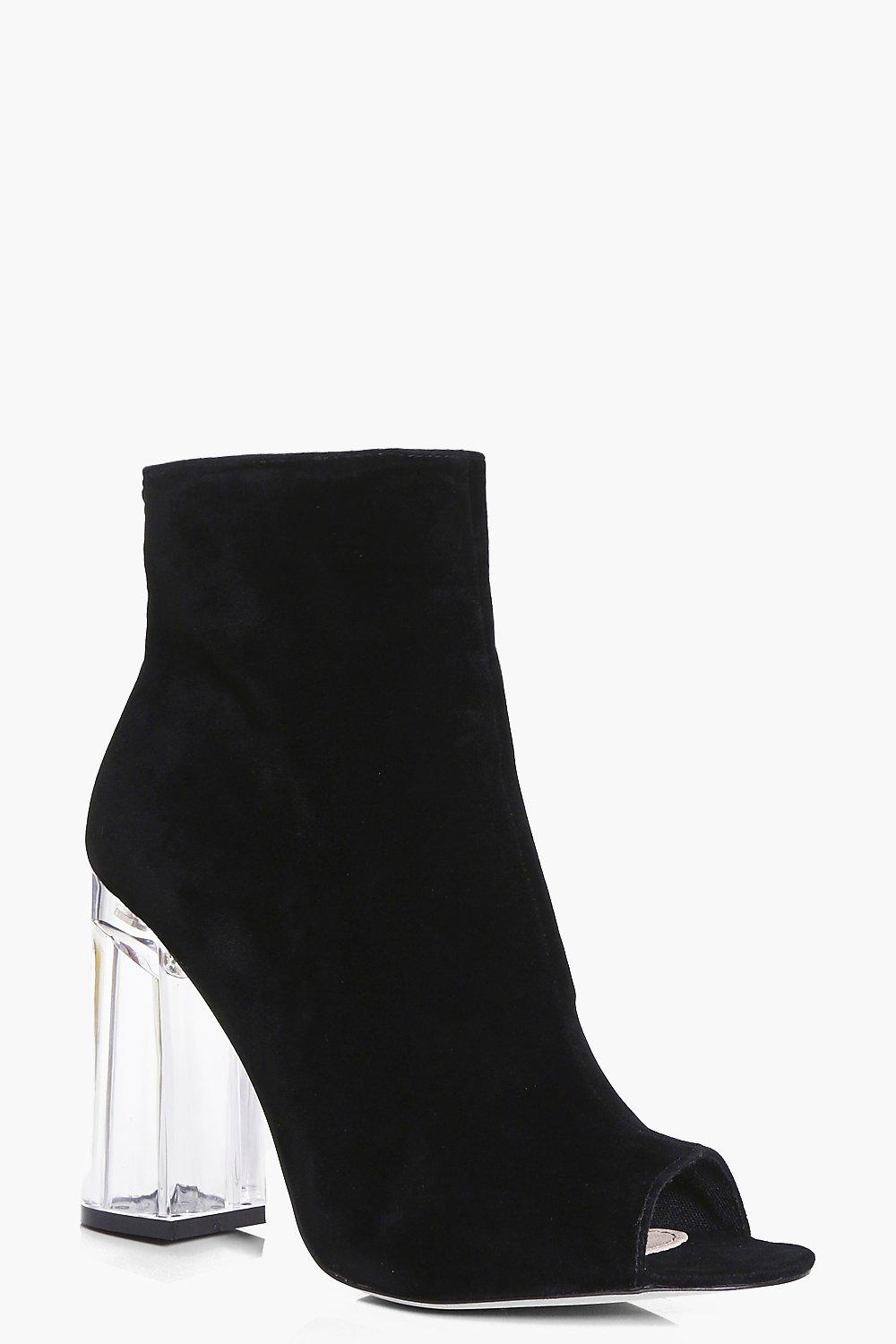 Emilia Clear Peeptoe Shoe Boot