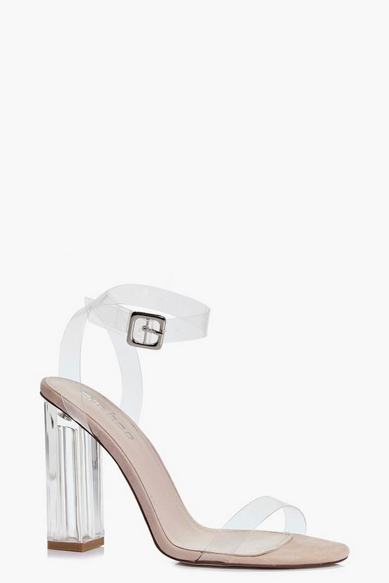 Rebecca Clear Cylinder Two Part Heels