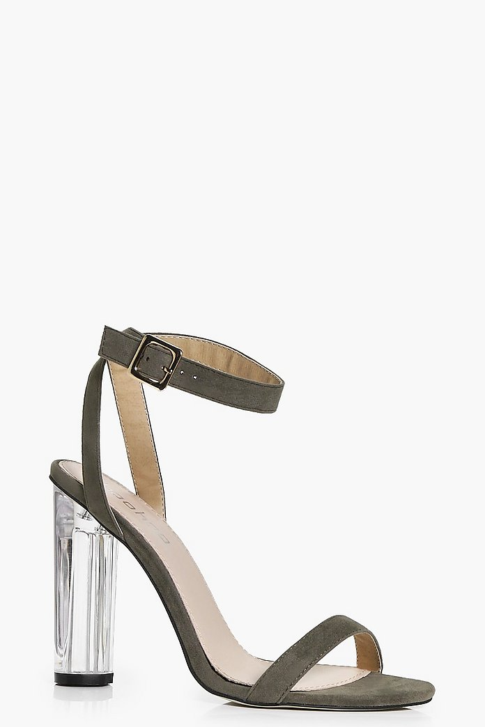 Eva Suedette Two Part Cylinder Heels