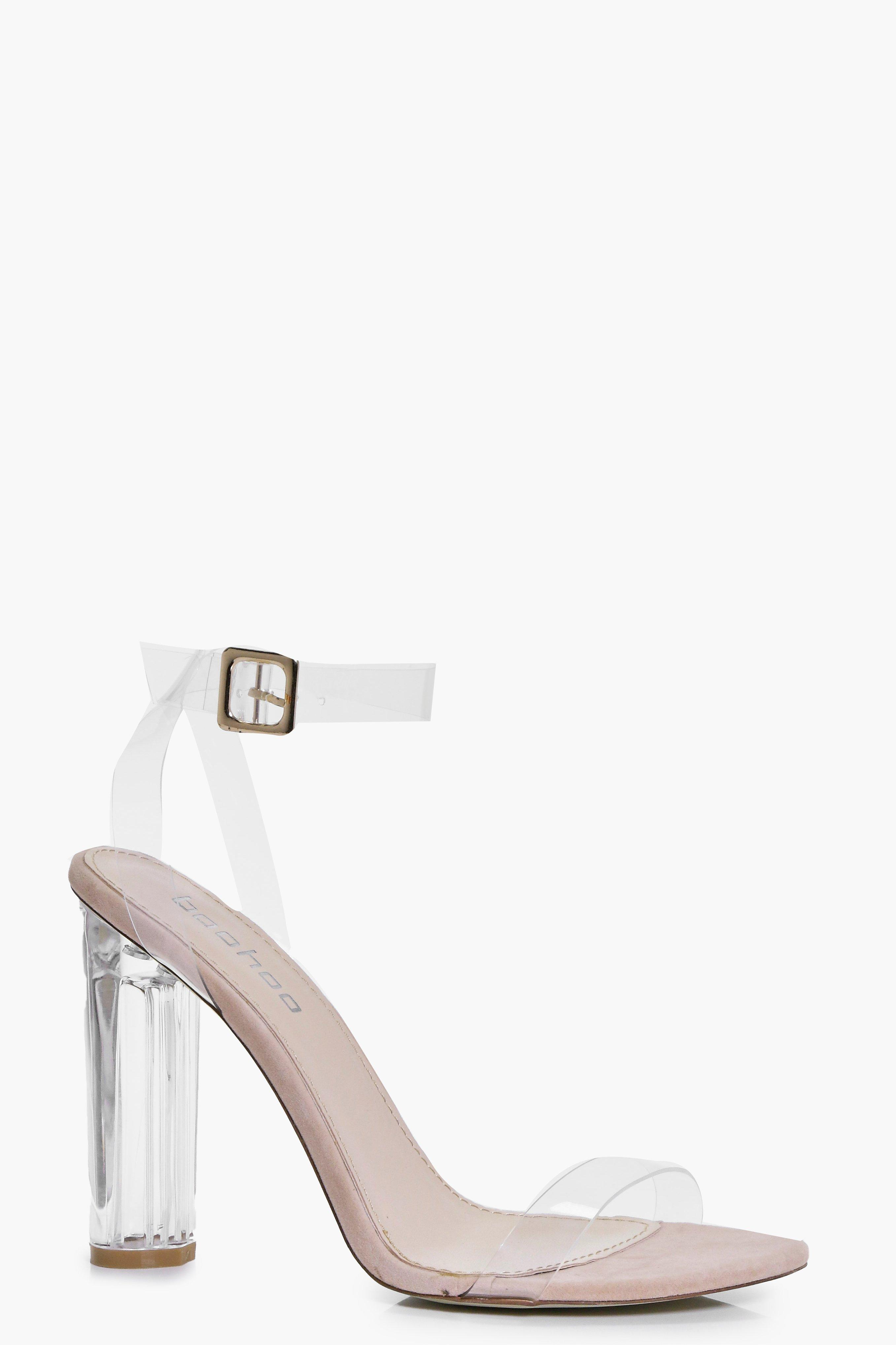 Lola Clear Cylinder Two Part Heels