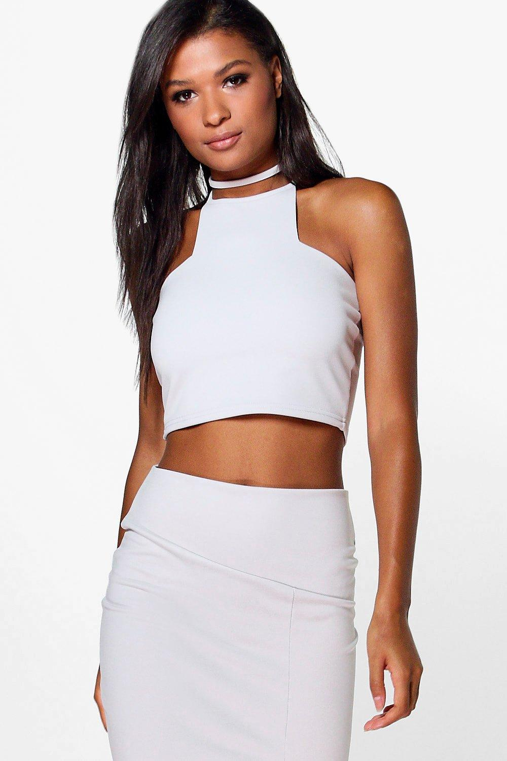Skye Choker Cut Out Top