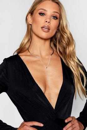 Hollie Simple Plunge Necklace