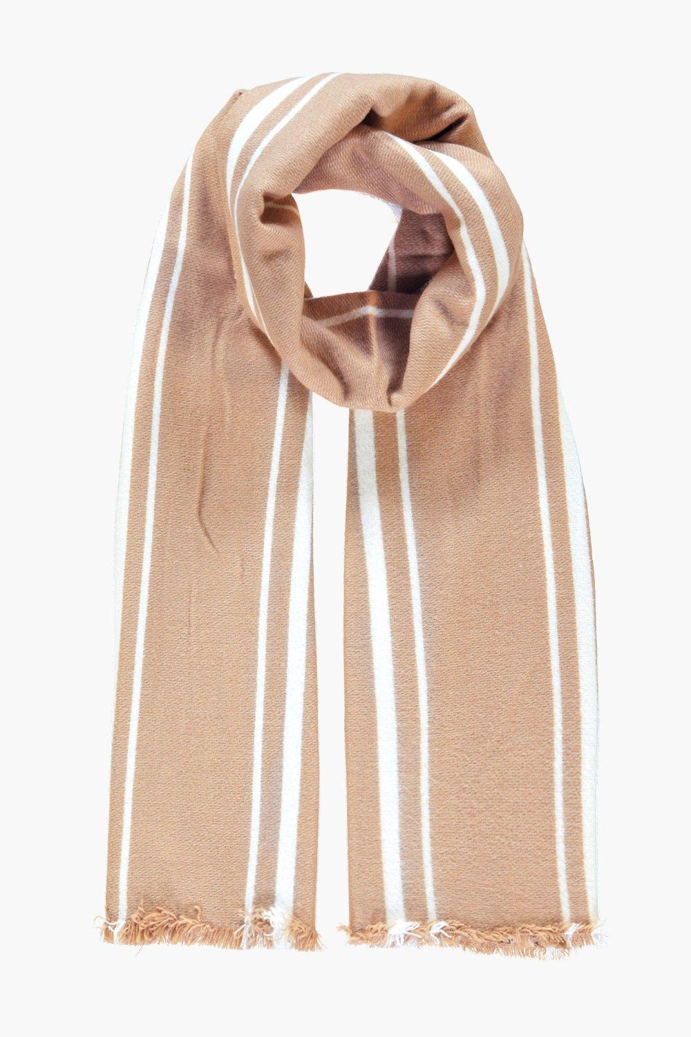 Lydia Varied Stripe Wool Oversize Scarf