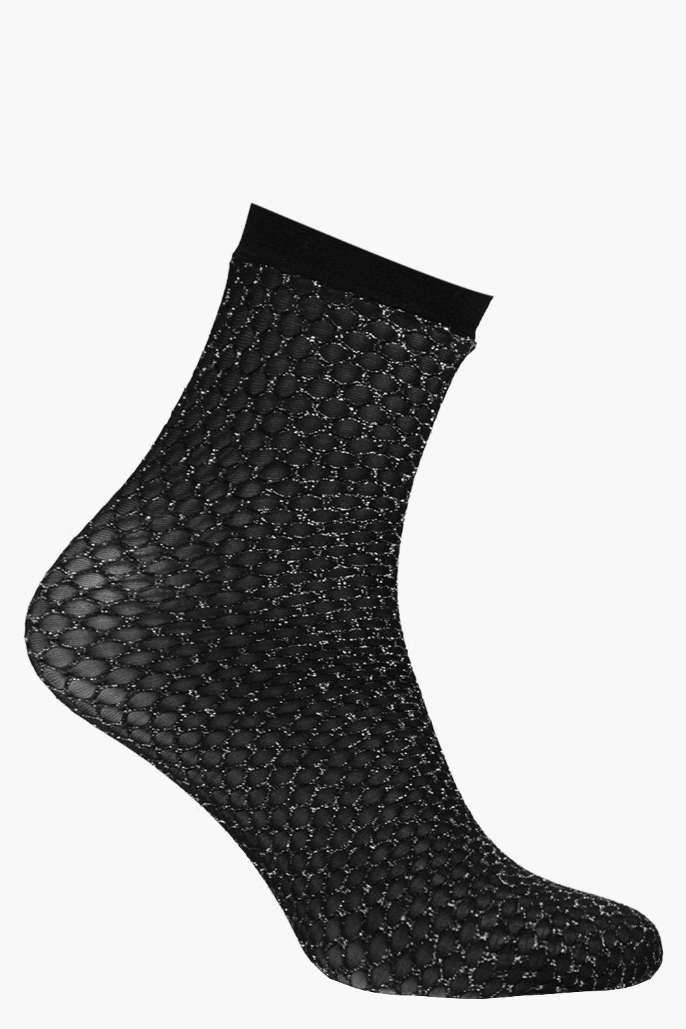 Sparkle Ankle Socks black