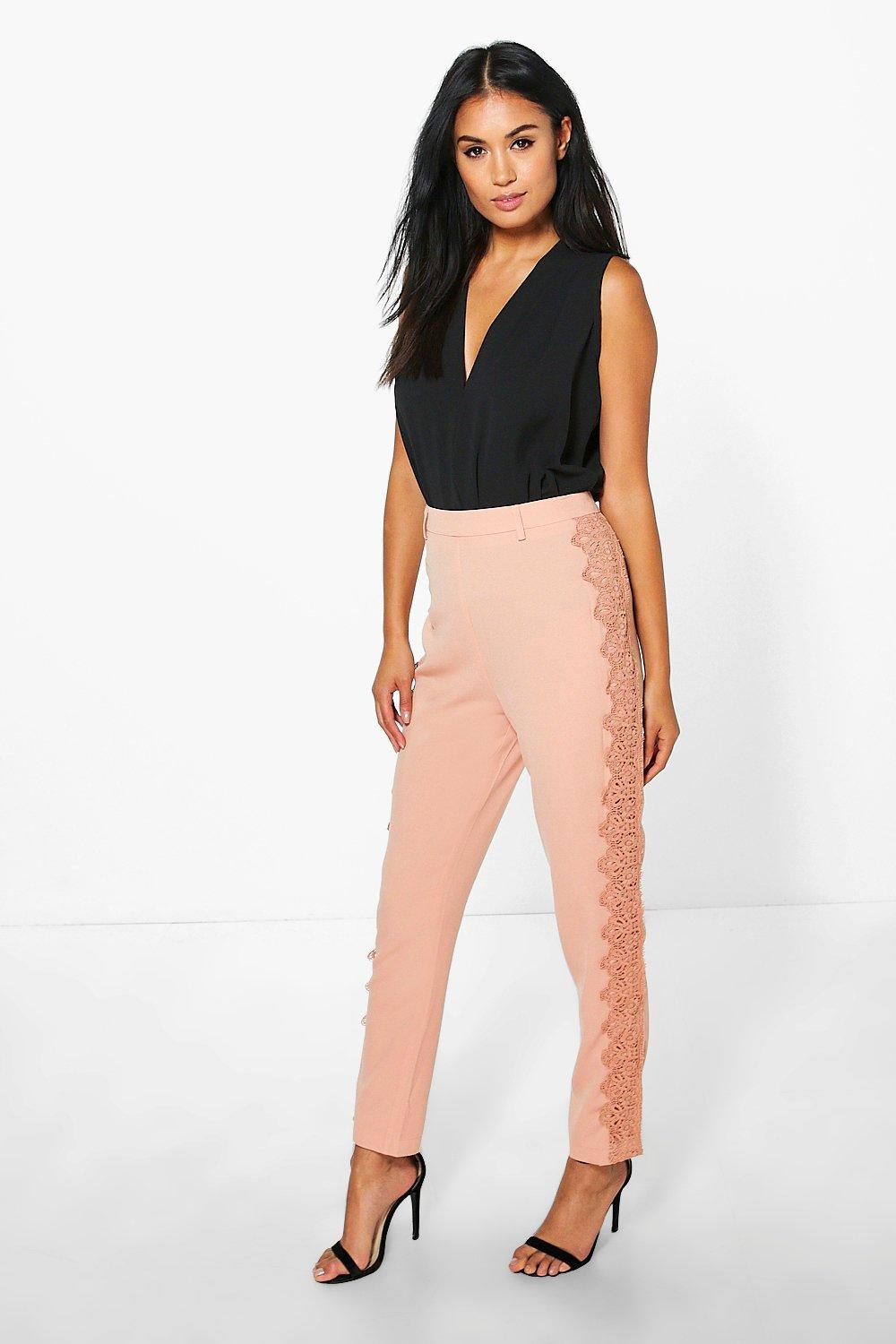 Graciela Crochet Trim Tailored Woven Trousers
