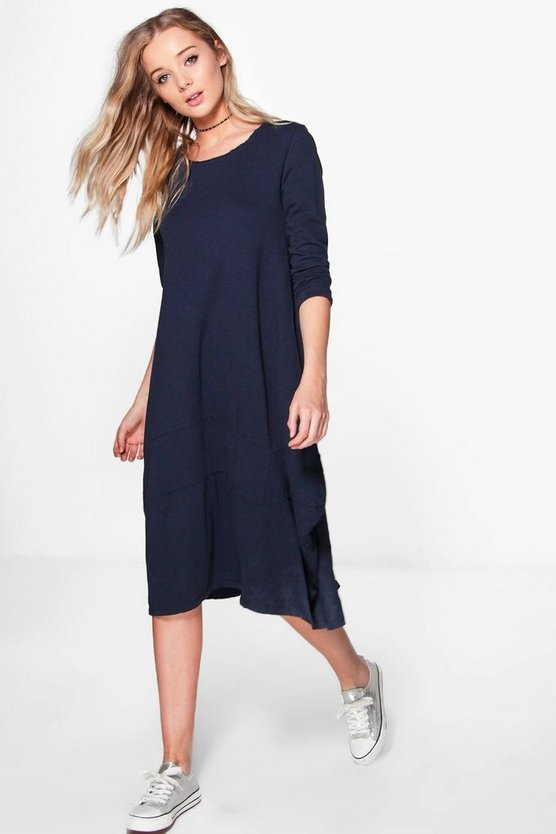 Araceli Long Sleeved Oversized Midi Dress
