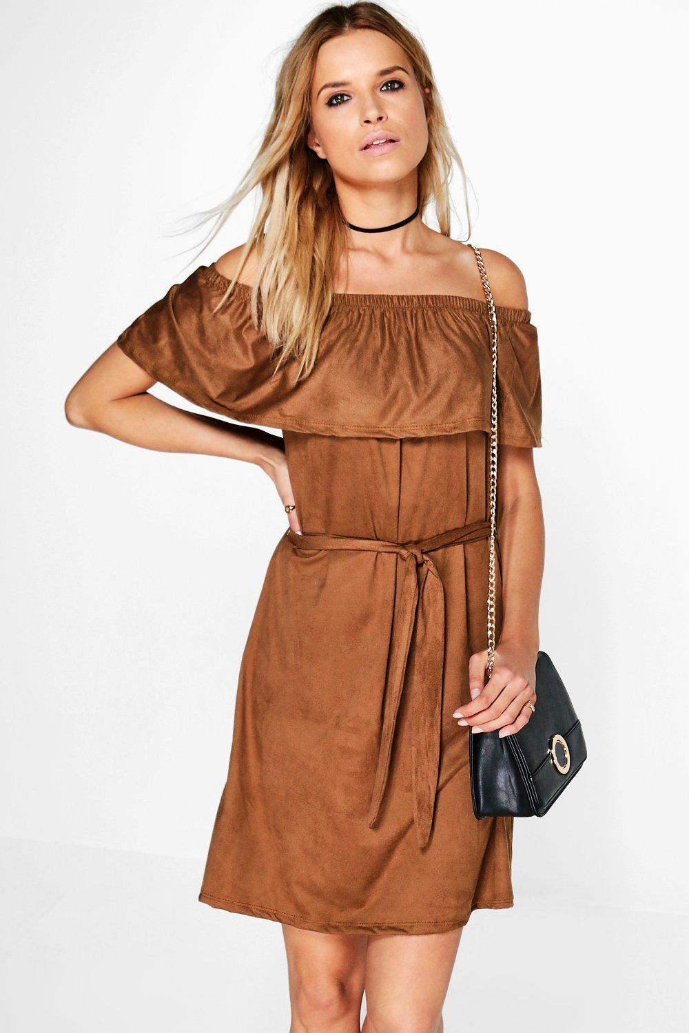 Karrueche Off The Shoulder Tie Dress