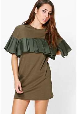 Guinivere Frill Sleeved Shift Dress