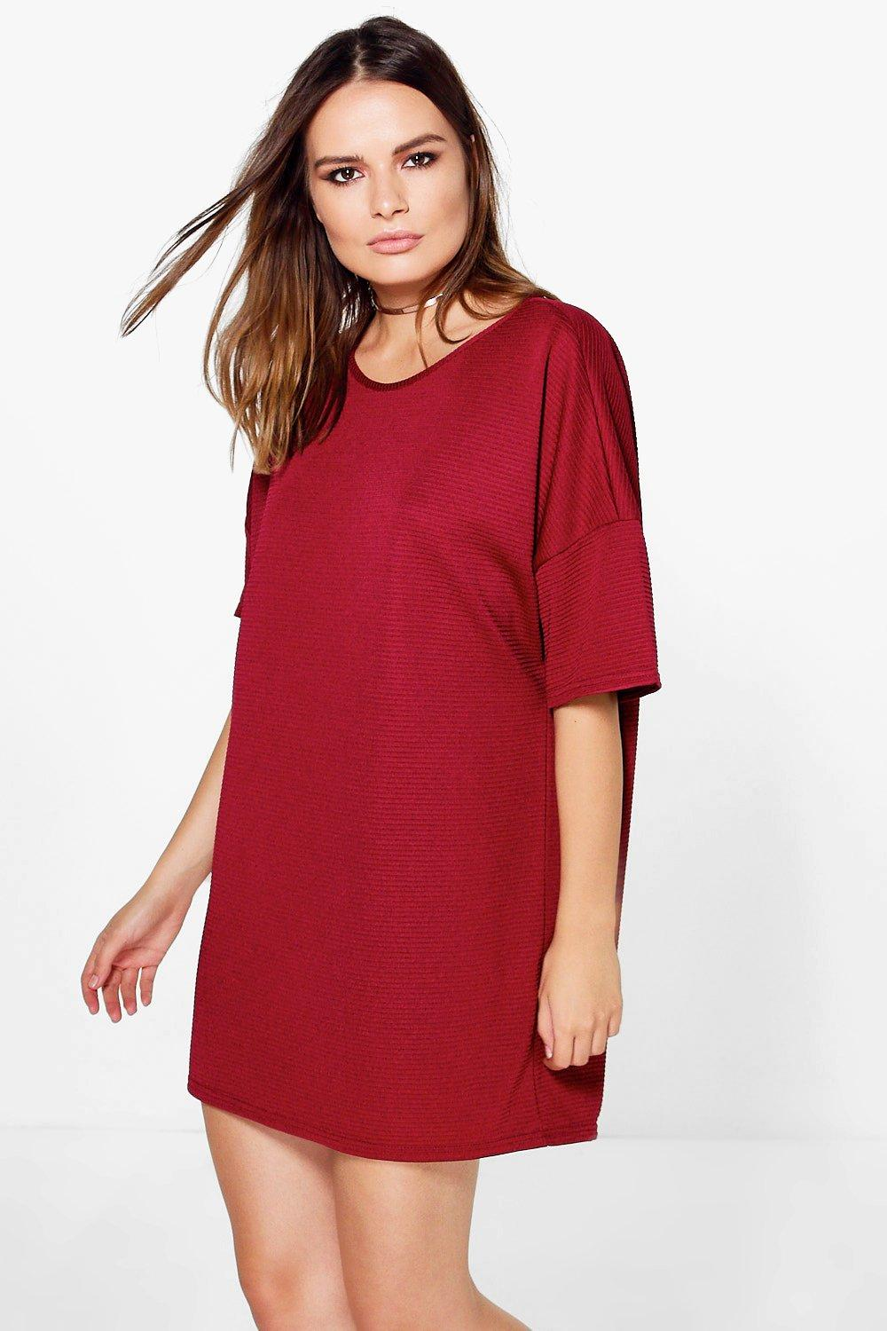 Fay Premium Ribbed Oversized Shift Dress