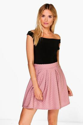 Willow Textured Box Pleat Mini Skirt