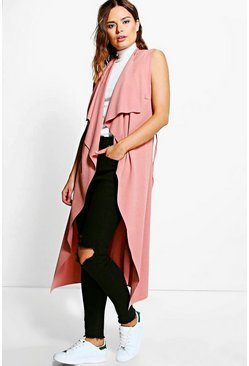 Anna Sleeveless Belted Midi Duster