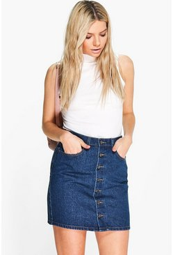 Amanda 5-Pocket Denim Skirt