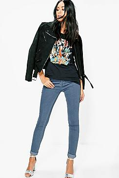 Abby 5-Pocket High Rise Skinny Jeans