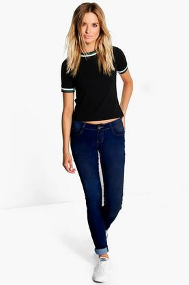 Eillie Low Rise Dark Wash Skinny Jeans