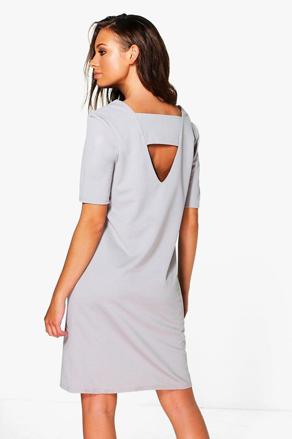 Anna Tailored Bare Back Shift Dress