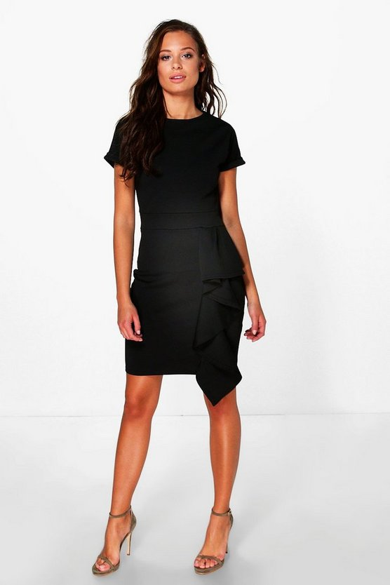 Amelia Tailored Ruffle Mini Dress