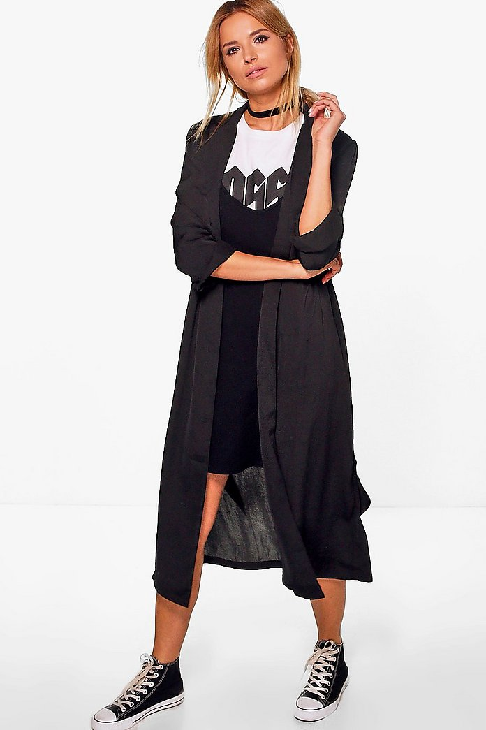 Lydia Boutique Satin Wrap Over Duster