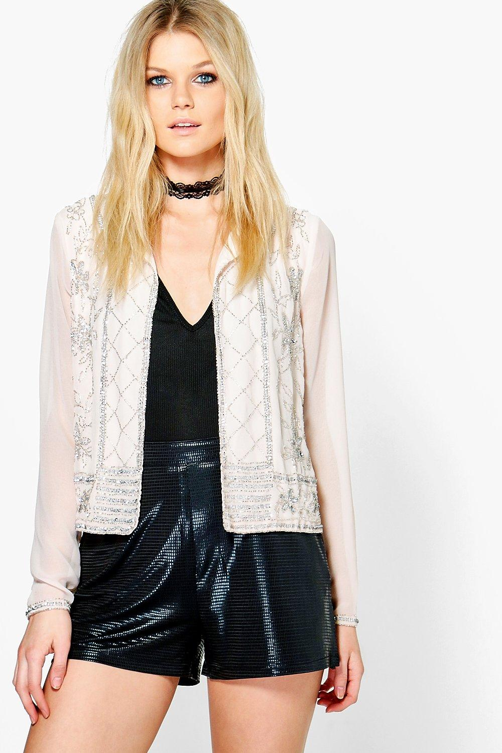 Annabel Boutique Embellished Jacket