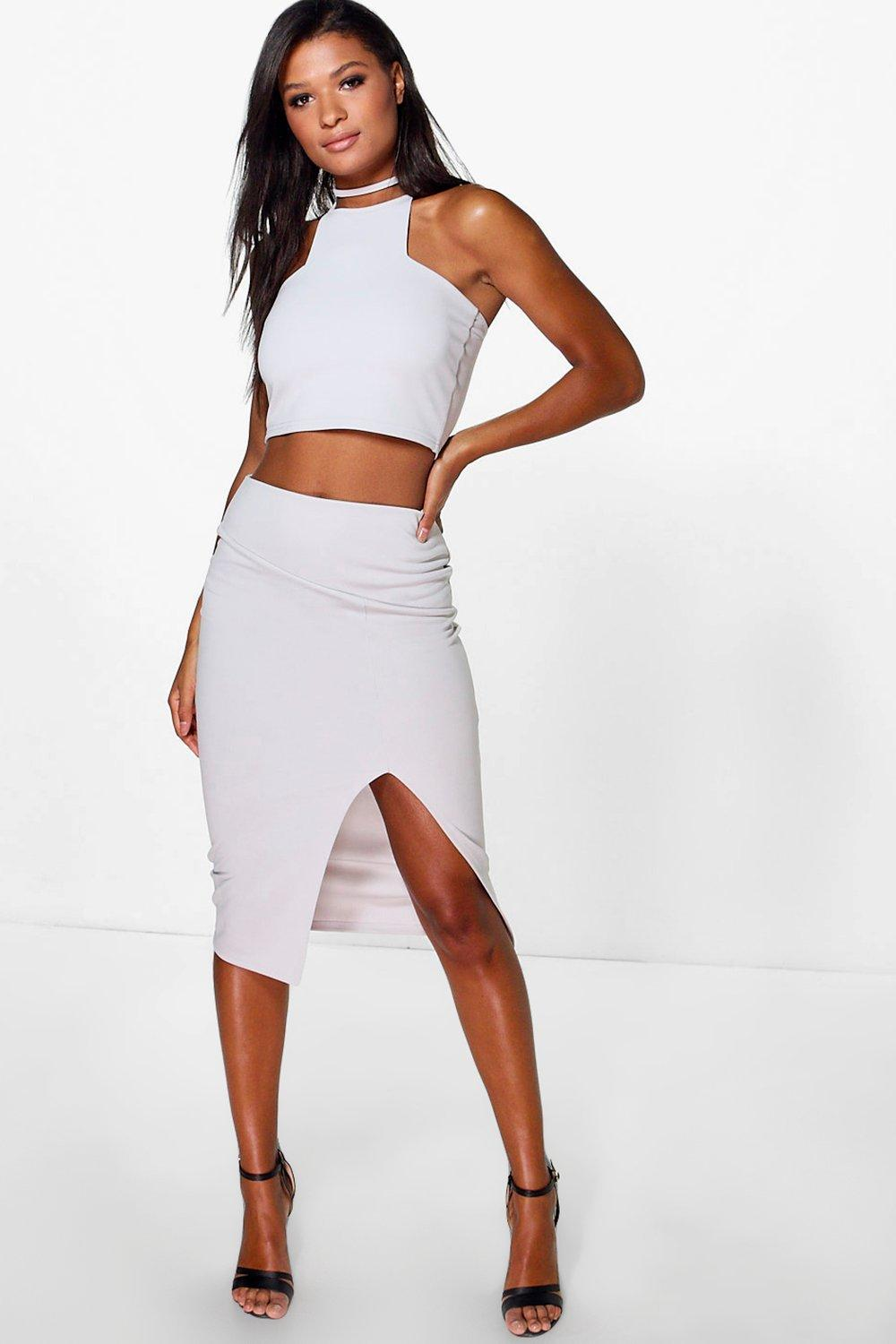 Skye Split Midi Skirt