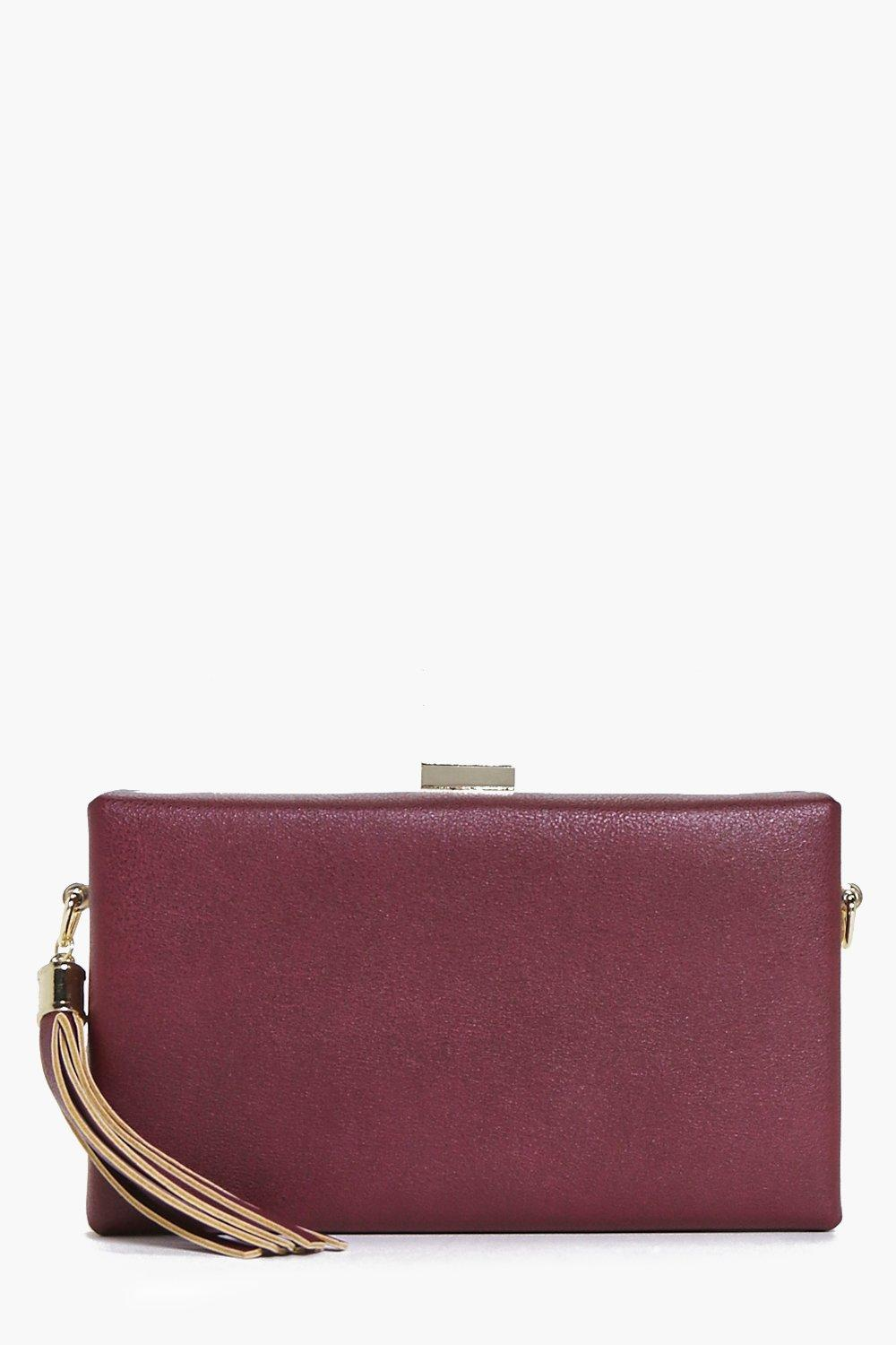 Molly Tassel Detail Box Clutch Bag