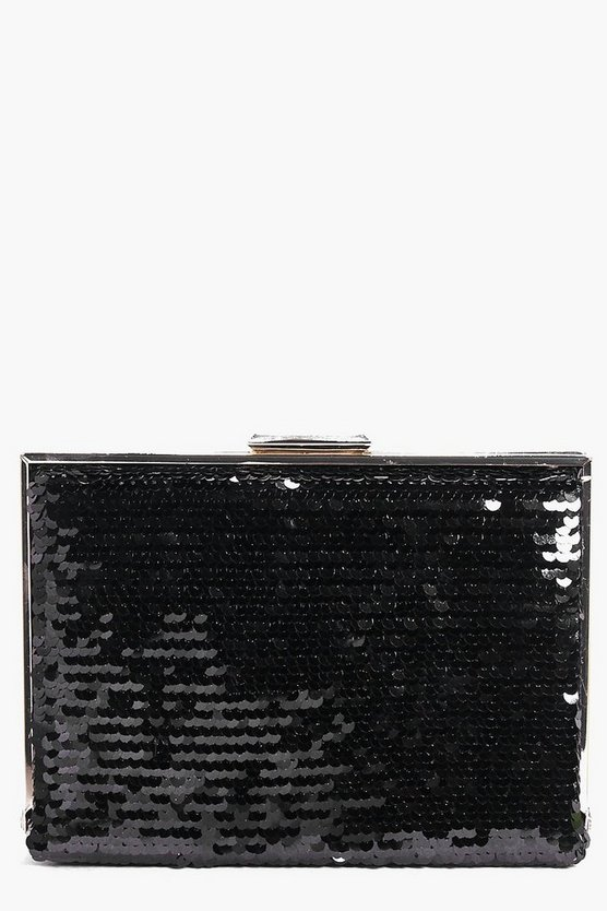 Eleanor Sequin Box Clutch Bag
