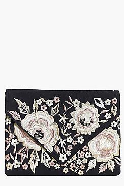 Darcy Boutique Floral Embroidered Clutch Bag