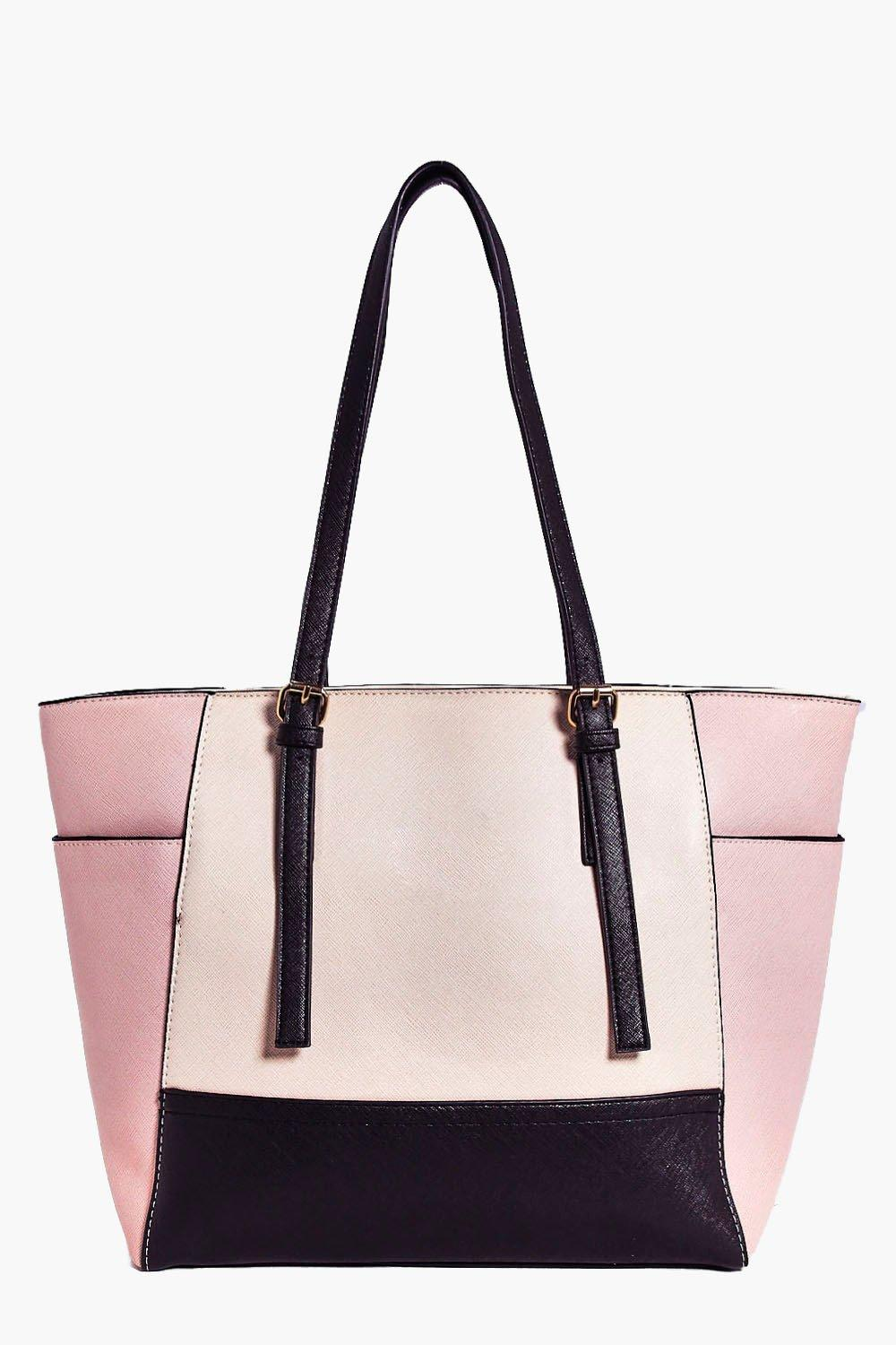 Violet Colour Block Winged Day Bag