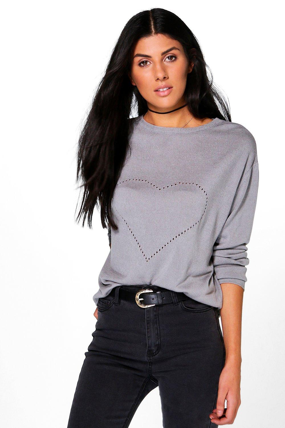 Lucy Heart Front Jumper