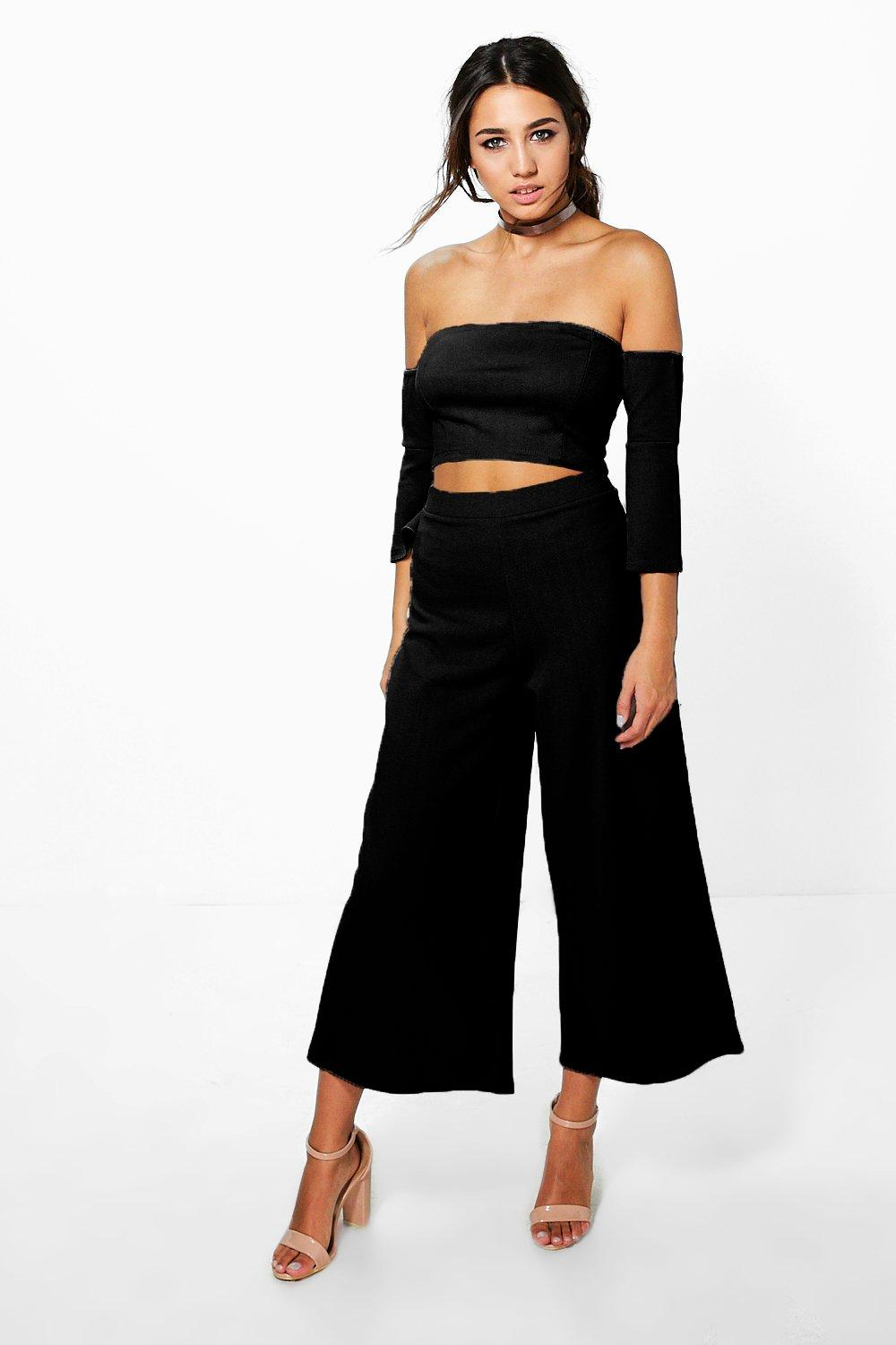 Becky Off The Shoulder And Culotte Co-Ord