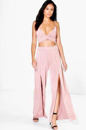 Tara Bralet Crop And Split Leg Trouser Co-Ord