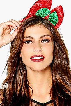Maria Sequin Bow Novelty Headband