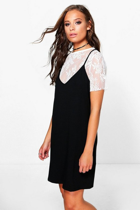 Posey Lace 2 in 1 Slip Dress