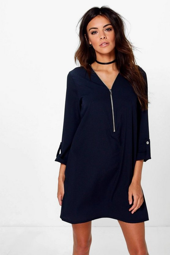 Samara Zip Front Shift Dress