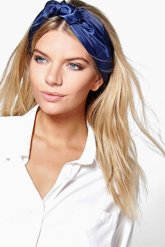 Isobel Plain Satin Headscarf