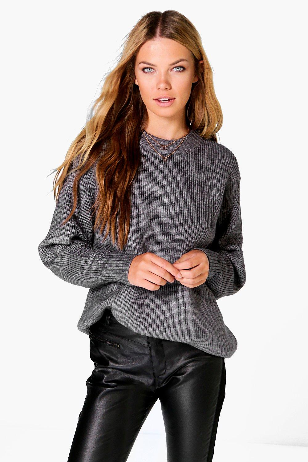 Maisie Batwing Rib Knit Oversized Jumper