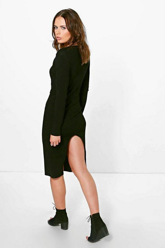 Evie Premium Lace Up Back Knitted Dress