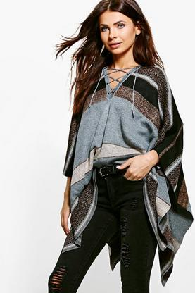 Lily Lace Up Poncho