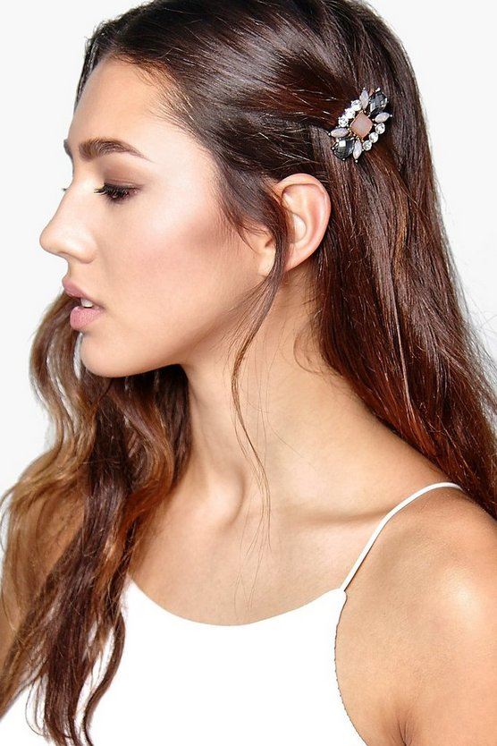 Sarah Embellished Gem Detail Hair Clip