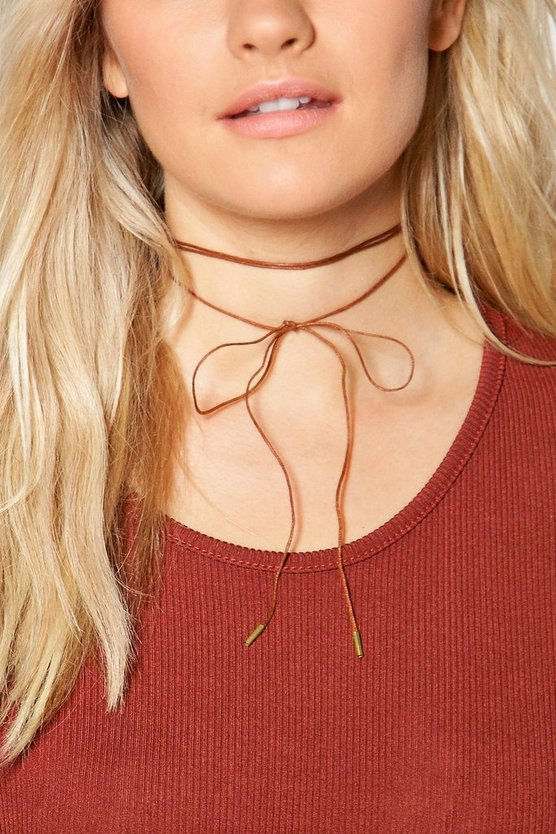 Eva Thin Cord Wrap Around Choker
