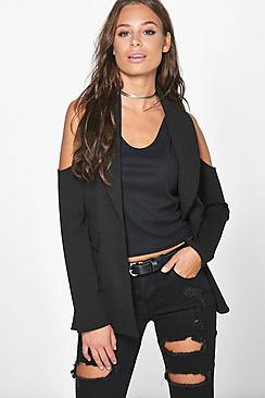 Kayla Cold Shoulder Blazer