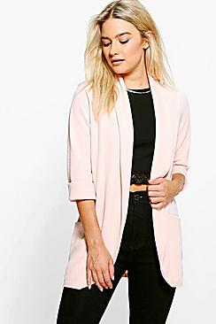 Tilly Turn Up Cuff Shawl Collar Blazer