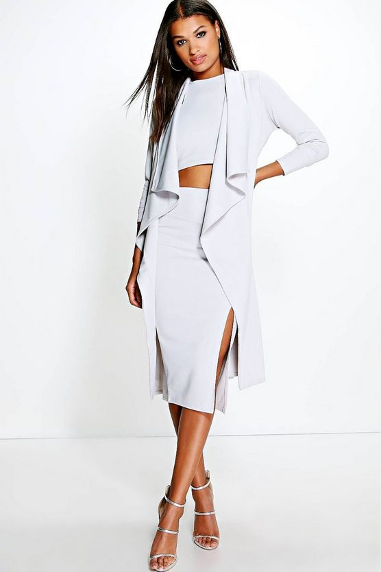 Skye Shawl Collar Belted Duster