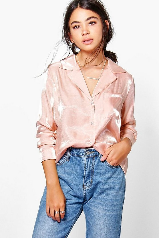 Zoe Boutique Metallic Pyjama Shirt