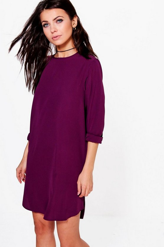 Elle Long Sleeve Shift Dress