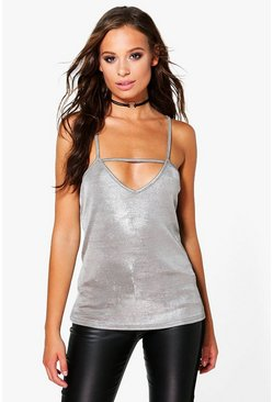 Julia Metallic Strap Detail Cami
