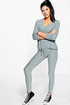Amelia Rib Knit Loungewear Set