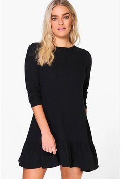 Esther Ruffle Hem Swing Dress